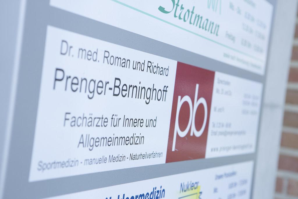 Hausarztpraxis Prenger-Berninghoff Praxisschild
